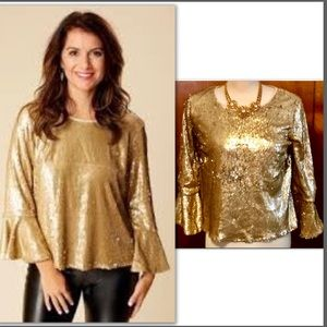 GOLD MATTE SEQUIN WITH A TOUCH OF BOHO